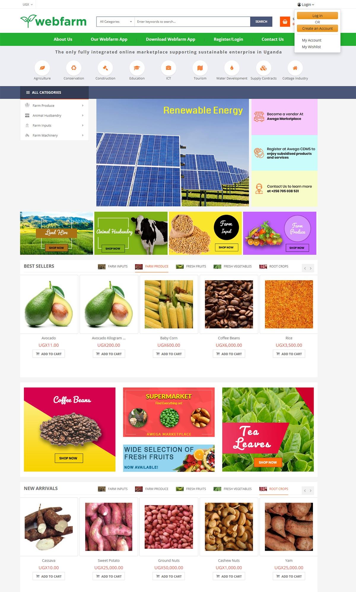 Webfarm Marketplace